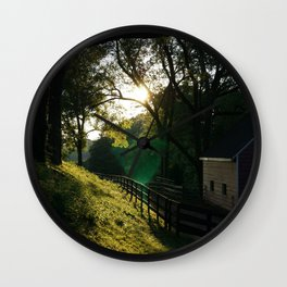 Last Light at the Meadow Wall Clock