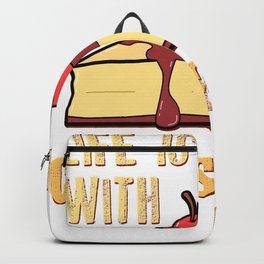 Life Is Batter With Cheesecake Cream Cheese Cracker Pastry Backpack