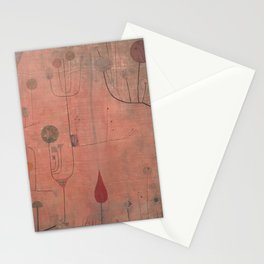 Paul Klee - Fruits on red Stationery Cards