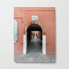 The Streets of Burano Island, Venice, Italy Fine Art Travel Print | Italy Art Print Metal Print