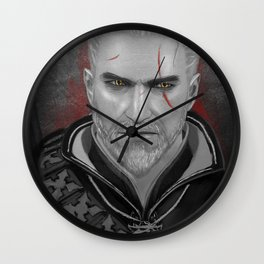 Geralt of Rivia from Witcher Wall Clock