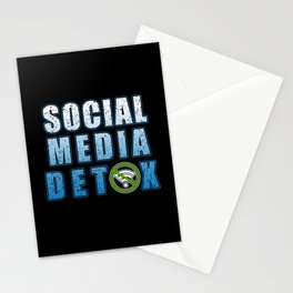 Social Media Detoxification Meditation instead Stationery Cards