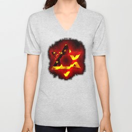UNITED STATE OF ISREAL 011 Unisex V-Neck