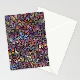butterfly kaleidoscope square Stationery Cards