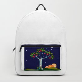 A Traditional Pomegranate Tree in Israel at Nigh Backpack