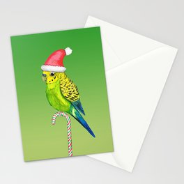Budgie Christmas style Stationery Cards