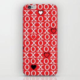 XOXOX (red) iPhone Skin