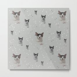 Cats Pattern.   cats, pattern, children, pet, feline, animals, Society6. Metal Print