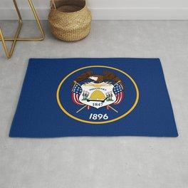Flag of Utah,america,Usa,Salt Lake City,Beehive State, desert,Utahn,Utahan,western,Logan Rug