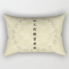 The Dancing Dragon II Rectangular Pillow