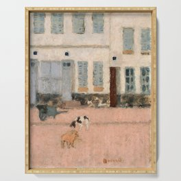 Pierre Bonnard - Two Dogs In A Deserted Street - Digital Remastered Edition Serving Tray