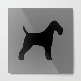 Wire Fox Terrier Silhouette(s) Metal Print