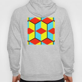 Dramatic geometric abstract cubist art showing three-dimensional colorful cubes in a square pattern Hoody