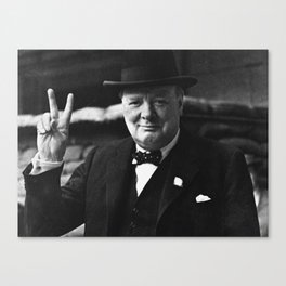 Winston Churchill Canvas Print