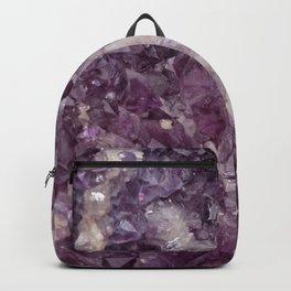 Deep Purple Quartz Crystal Backpack