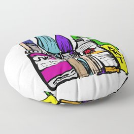 Art About Art 1 in Colour Floor Pillow