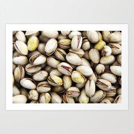 Pistachio nut pattern Art Print