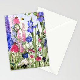 Colorful Garden Flower Acrylic Painting Stationery Cards
