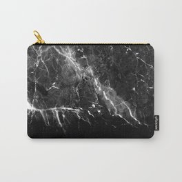 Black Gray Marble #1 #decor #art #society6 Carry-All Pouch