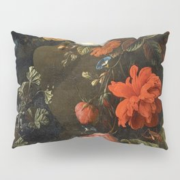 Elias van den Broeck - Floral Still Life with Insects Pillow Sham