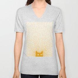 Cat Landscape 96: Good Meowning Unisex V-Neck
