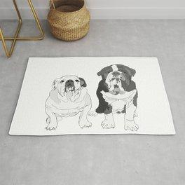 English Bulldog Brothers Rug