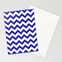 Chevron (Navy & White Pattern) Stationery Cards