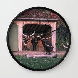 Bull eating Wall Clock