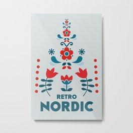 Retro Nordic Folk Metal Print
