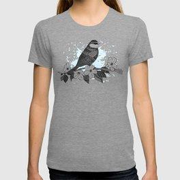 Bird and cherry blossoms T-shirt