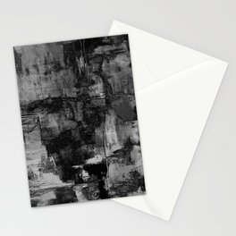 Crackled Gray - Black, white and gray, grey textured abstract Stationery Cards