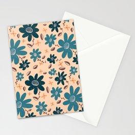FLORAL BLOOM - BLUE Stationery Cards