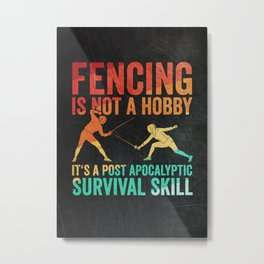 Fencer Fencing Metal Print