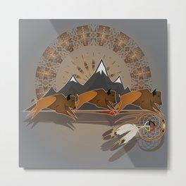 Native American Indian Buffalo Nation Metal Print