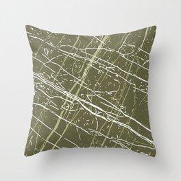 Sphagnum, Nile & Bright White Throw Pillow