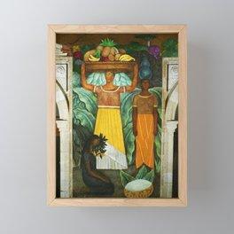 Tehuana Women Bringing Fruit to Market by Diego Rivera Framed Mini Art Print