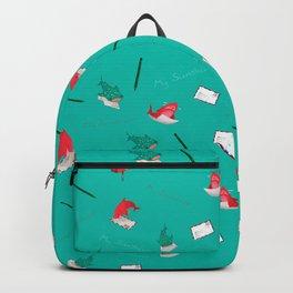 Teal Whale Shark and Shark Backpack