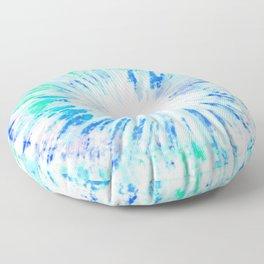 Tie dye blue Floor Pillow