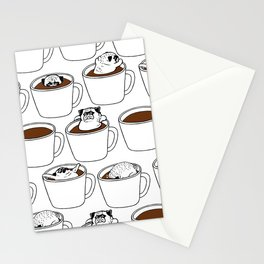 More Coffee Pug Stationery Cards