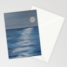 The Moon lighting up the Sea Stationery Cards