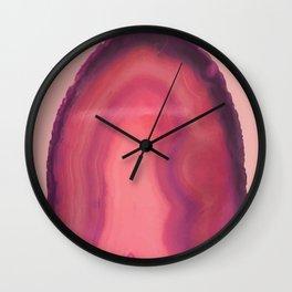 Pink & Purple Geode Rock Pattern Wall Clock