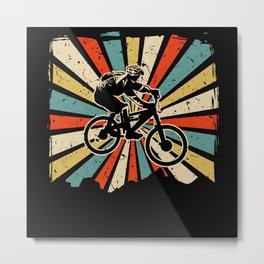 Mountain Bike Bicycle Cycling Biker Metal Print