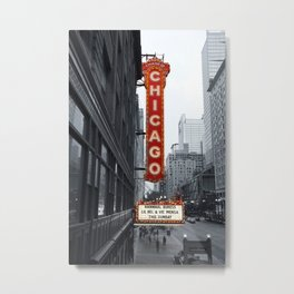 Sign, Chicago Theater Metal Print