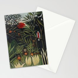 Monkeys and Parrot in the Virgin Forest (Singes et perroquet dans la forêt vierge) (ca. 1905–1906) b Stationery Cards
