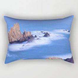 """Sirenas azules. Blue mermaids"" Rectangular Pillow"