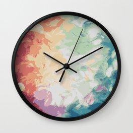 Brush Strokes Abstract Art Design Wall Clock