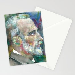 PIERRE CURIE - watercolor portrait Stationery Cards