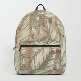 Vintage Tropical Leaves Backpack
