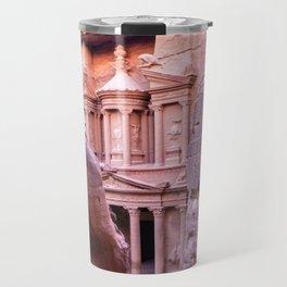Petra Al Khazneh Treasury Temple Ruins by Day Travel Mug