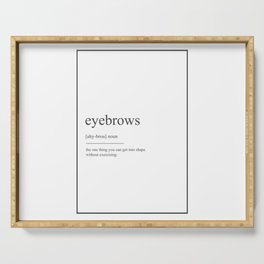 Eyebrows 209 Watercolor Map Yoga Quote D Serving Tray
